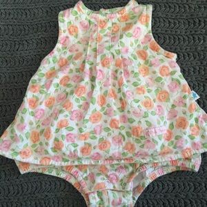 Little Me onesie dress. Floral. 6 months.